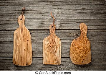 topo, carvalho, rústico, experiência., madeira, tábua, ...