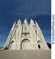 topo, church/temple, barcelona, espanha, colina, tibidabo