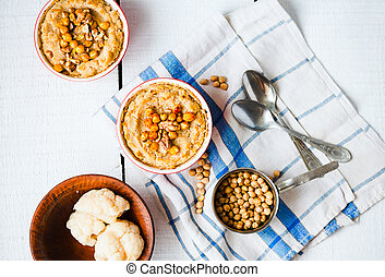 topo, cogumelos,  vegan, nozes,  chickpeas, vegetal,  casserole, vista