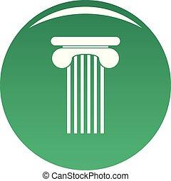 topo, coluna, ícone, vetorial, verde