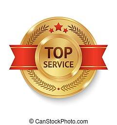 topo, emblema, serviço