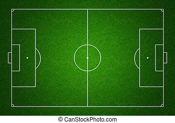 topo, futebol, conforme, padrões, campo, markings, passo,...