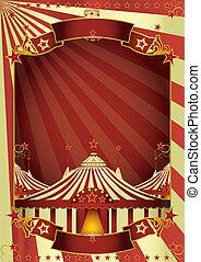 topo grande, circo, agradável
