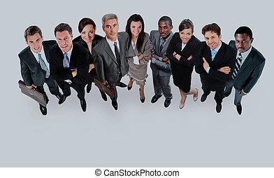 topo, grupo, pessoas., negócio, vista