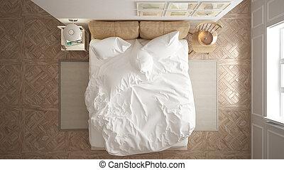 topo, hotel, recurso, escandinavo, quarto, minimalistic, spa, branca, desenho, vista