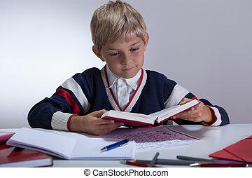 topo, livro, classe, escrita