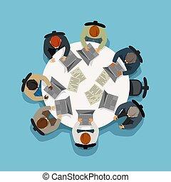 topo, negócio, vista, reunião
