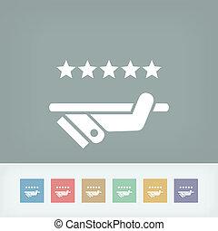 topo, qualidade, serviço, ícone