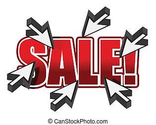 topo, vendita, illustrazione, segno