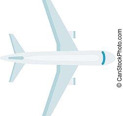 topo, vetorial, illustration., avião, vista