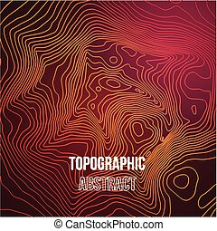 Topographic map colorful abstract background with contour...