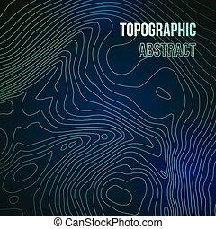Topographic map colorful abstract background with contour lines