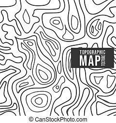Topographic map pattern. Seamless background with contour lines