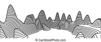 Topographical map of the locality, vector illustration with...
