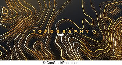 Topography relief. Abstract background. Vector illustration ...