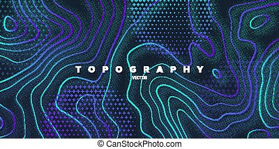 Topography relief. Abstract memphis background. Vector ...