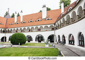 Topolcianky castle. Topolcianky is a village and ...
