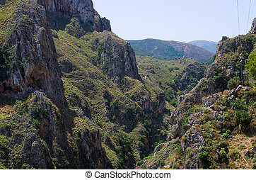 Topolia Gorge on Crete, Greece