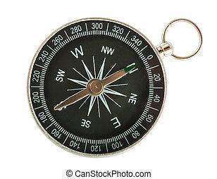topp, kompass, svart, synhåll