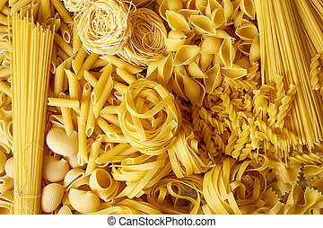 topp se, av, olika, pasta, slagen