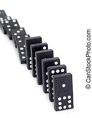 Line of dominos that are partially toppled
