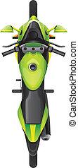 topview, motocicleta