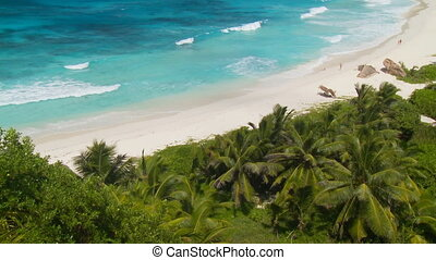 topview of tropical beach