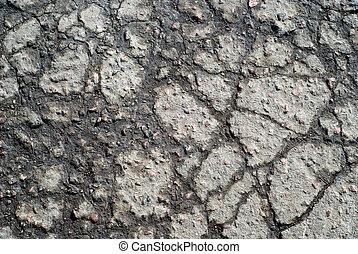 toqué, asphalte, surface, mouillé