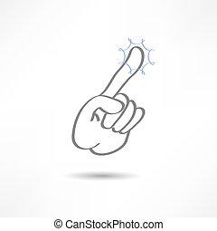 toque, dedo