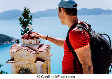 toques, turista, helénico, asombroso, pensativo, santuario,...