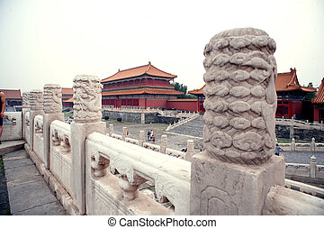 tor, nägel, museum, palast, chinesisches