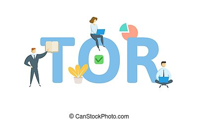 TOR, term of reference. Concept with keyword, people and ...