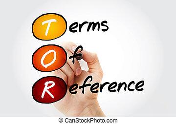 tor, -, termijnen, referentie