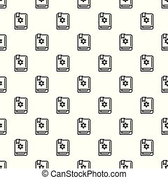 Torah book pattern seamless vector repeat for any web design