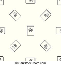 Torah book pattern seamless vector repeat geometric for any...