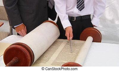 Torah displayed here a synagogue