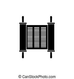 Torah icon flat style simple design. Vector eps10