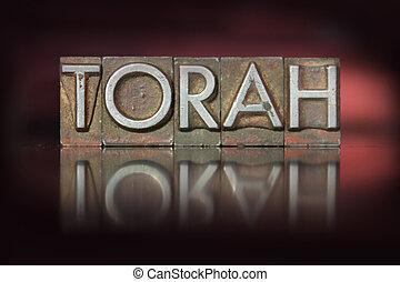 torah, letterpress