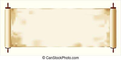Torah scroll - intact - Illustration of a Torah scroll or ...