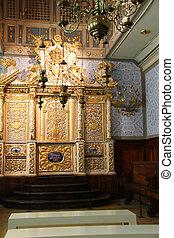 Torah Scrolls Cabinet. - Cupboard for Torah storage in the...