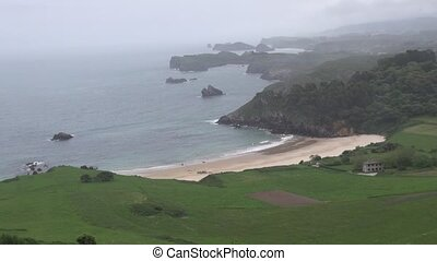 Toranda beach 30 - view of coastline in Asturias at Spain...