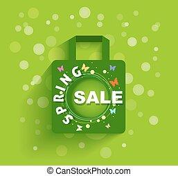 torba, zakupy, sprzedaż, tło, wiosna