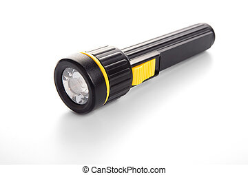Torch - Black torch on isolated white background