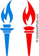 Torch fire vector icon