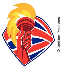 torch-flames-hand-british-shield