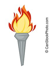Torch Greek symbol Olympic games attribute fire or flame