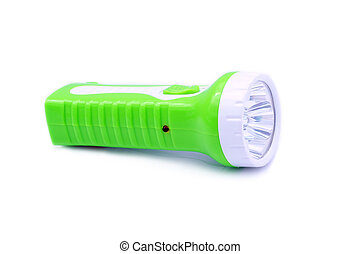 Torch green isolated on white