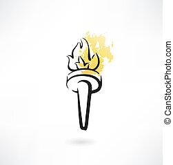 torch grunge icon