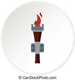 Torch icon circle