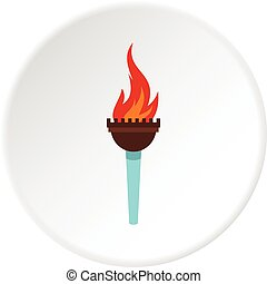 Torch icon circle